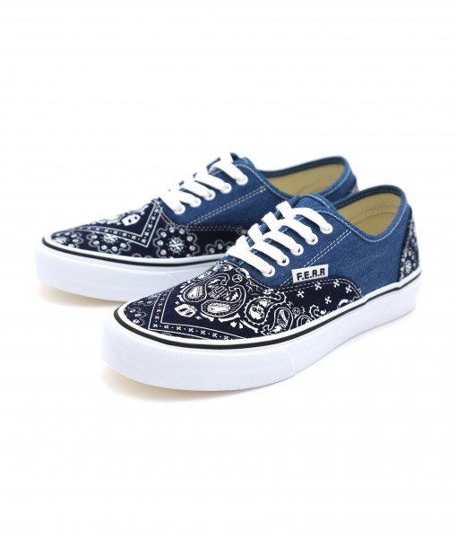 F.E.A.R BAD KIDS PAISLEY denim canvas shoes