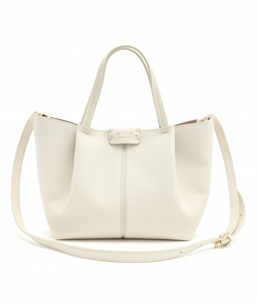 GOIAS SIGNATURE SMALL TOTE (BEIGE)
