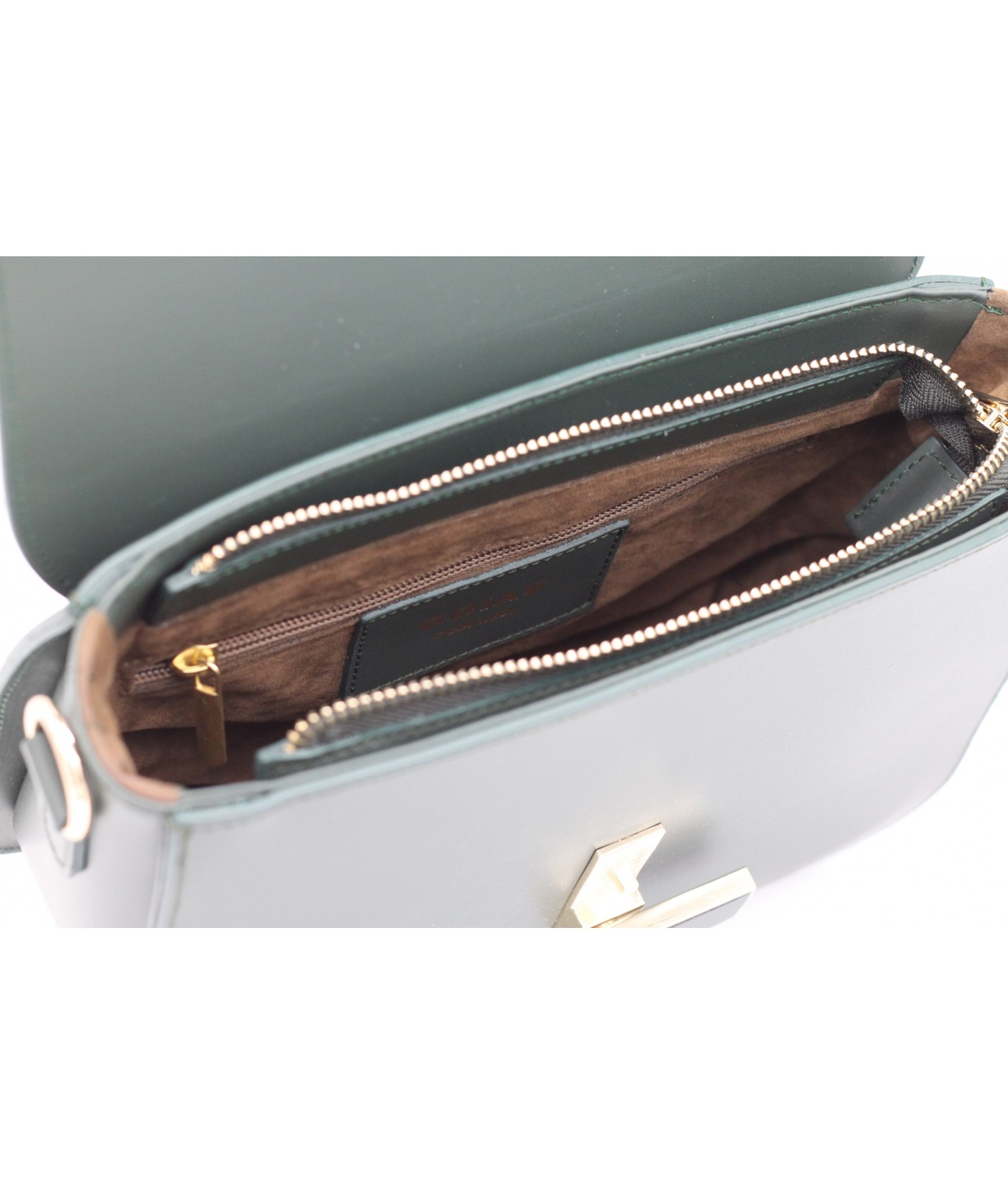 GOIAS Box Bag in Ruga leather(Forest Green)