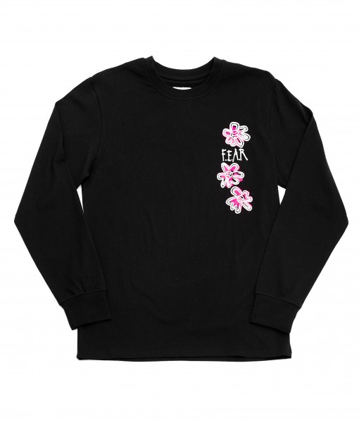FEAR CIRCLE FLOWER GRAPHIC TEE (BLACK)