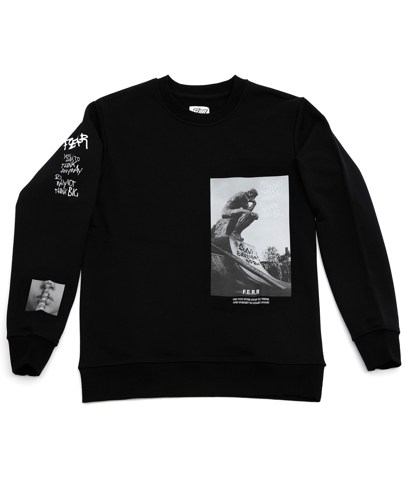 FEAR PHOTO GRAPHIC PULLOVER SWEATSHIRT (BLACK)