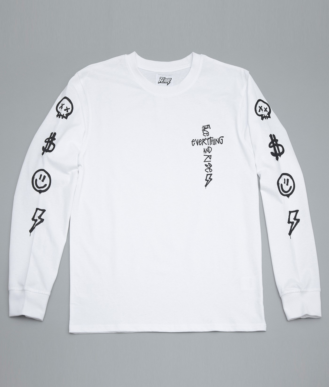 FEAR FACE EVERYTHING AND RISE TEE(WHITE)